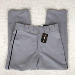 NWT Easton Men's Gray Pipeline Baseball Pants L